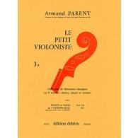 LE PETIT VIOLONISTE VOL 3B VIOLON