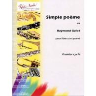 GUIOT R. SIMPLE POEME FLUTE