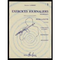 LAMBERT G. EXERCICES JOURNALIERS VOL 1 FLUTE