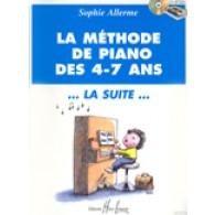 ALLERME S. METHODE DE PIANO DES 4 - 7 ANS LA SUITE