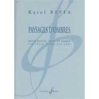 BEFFA K. PAYSAGES D'OMBRES FLUTE ALTO HARPE
