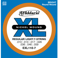 JEU DE CORDES D'ADDARIO REGULAR LIGHT 7C EXL110-7