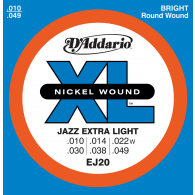 JEU DE CORDES D'ADDARIO REGULAR JAZZ EXTRA LIGHT EJ20