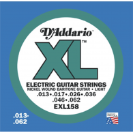 JEU DE CORDES D'ADDARIO REGULAR BARYTON LIGHT EXL158