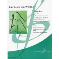 WEBER C.M. CONCERTINO OP 26 CLARINETTES