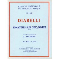 DIABELLI A. SONATINES SUR CINQ NOTES OP 163 PIANO 4 MAINS