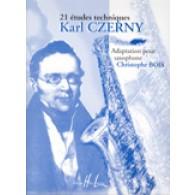 CZERNY K. 21 ETUDES TECHNIQUES SAXOPHONE