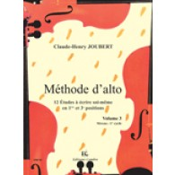 JOUBERT C.H. METHODE D'ALTO VOL 3: 12 ETUDES ALTO