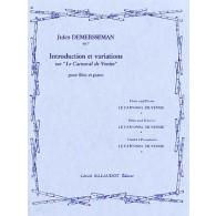 DEMERSSEMAN J. INTRODUCTION ET VARIATIONS SUR LE CARNAVAL DE VENISE FLUTE