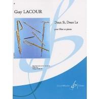 LACOUR G. DEUX SI, DEUX LA FLUTE