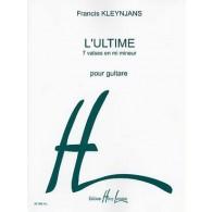 KLEYNJANS F. L'ULTIME 7 VALSES GUITARE