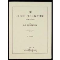 DUVERNOY J.B. LE GUIDE DU LECTEUR VOL 1 PIANO