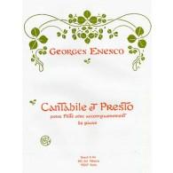 ENESCO G. CANTABILE ET PRESTO FLUTE