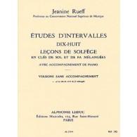 RUEFF J. ETUDES D'INTERVALLES VOL A