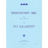 GAUBERT P. DIVERTISSEMENT GREC FLUTES