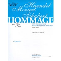 BERT H. HOMMAGE D'UN JEUNE FLUTISTE VOL 1 FLUTE