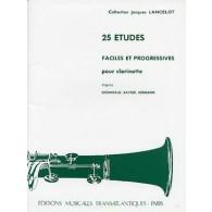 LANCELOT J. 25 ETUDES FACILES ET PROGRESSIVES CLARINETTE