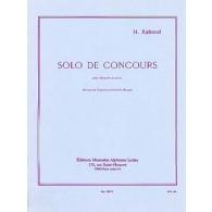 RABAUD H. SOLO DE CONCOURS CLARINETTE