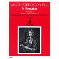 CORELLI A. 6 SONATAS OP 5 VOL 1 FLUTE A BEC