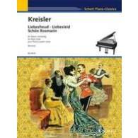 KREISLER F. LIEBESFREUD - LIEBESLIED - SCHON ROSMARIN PIANO 4 MAINS