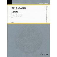 TELEMANN G.P. SONATE SOL MAJEUR FLUTE
