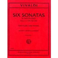 VIVALDI A. SONATAS IL PASTOR FIDO VOL 1 FLUTE