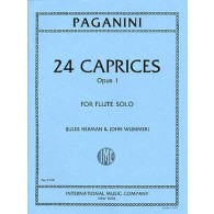 PAGANINI N. 24 CAPRICES OP 1 FLUTE SOLO