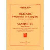 GAY E. METHODE PROGRESSIVE ET COMPLETE VOL 1 CLARINETTE