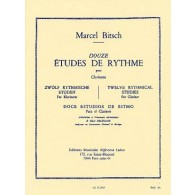BITSCH M. 12 ETUDES DE RYTHME CLARINETTE