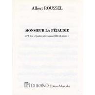 ROUSSEL A. JOUEURS DE FLUTE: M. DE LA PEJAUDIE FLUTE