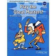 PLAY THE GREAT MASTERS SAXO MIB