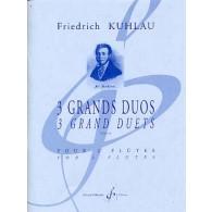 KUHLAU F. GRANDS DUOS OP 39 FLUTES