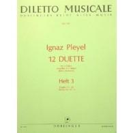 PLEYEL I. 12 DUETTES VOL 3 FLUTES