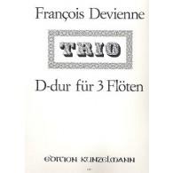 DEVIENNE F. TRIO N°2  D DUR FLUTES