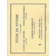 DANDELOT G. ETUDE DU RYTHME VOL 5