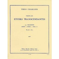 CHARLIER T. 36 ETUDES TRANSCENDANTES TROMPETTE OU CORNET