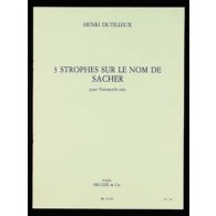 DUTILLEUX H. STROPHES SUR LE NOM DE SACHER VIOLONCELLE SOLO