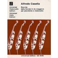 CASELLA A. BOURREE DALLA SONATA IN DO MAGGIORE VIOLONCELLE