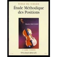 HAUCHARD M. ETUDE METHODIQUE DES POSITIONS 3ME CAHIER VIOLON