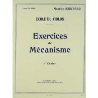 HAUCHARD M. EXERCICES DE MECANISME 1ER CAHIER VIOLON