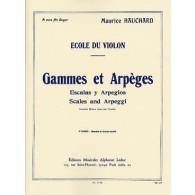 HAUCHARD M. GAMMES ET ARPEGES 2ME CAHIER VIOLON