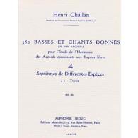 CHALLAN H. 380 BASSES ET CHANT DONNES VOL 04A