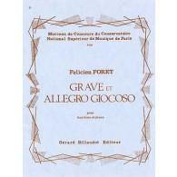 FORET F. GRAVE ET ALLEGRO GIOCOSO HAUTBOIS