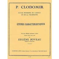 CLODOMIR P. ETUDES CARACTERISTIQUES TROMPETTE