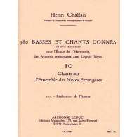 CHALLAN H. 380 BASSES ET CHANTS DONNES VOL 10C