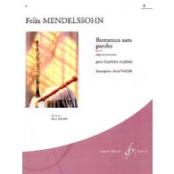 MENDELSSOHN F. ROMANCES SANS PAROLES OP 30 VOL 2 HAUTBOIS