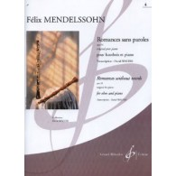 MENDELSSOHN F. ROMANCES SANS PAROLES OP 53 VOL 4 HAUTBOIS