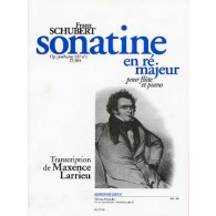 SCHUBERT F. SONATINE N°1 EN RE MAJEUR FLUTE