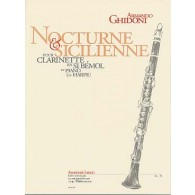 GHIDONI A. NOCTURNE & SICILIENNE CLARINETTE