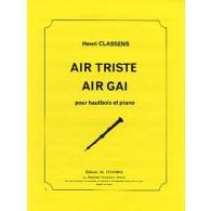 CLASSENS H. AIR TRISTE AIR GAI HAUTBOIS